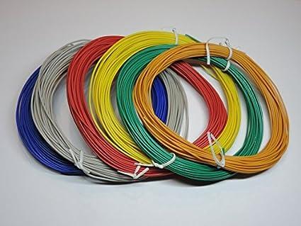 Bunte Kabel modellbahn litze kabel basteln 6er set bunt je 10m 0 14qmm amazon