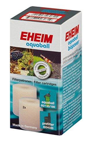 Eheim 2618080 Filterpatrone für Innenfilter 2208 - 2212, aquaball 60 -180,0 biopower 160 - 240 und Vorfilter 4004320 (2 St.)