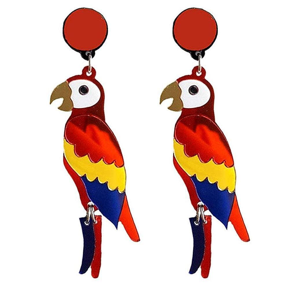 UPLEYING Acrylic Stud Earrings Parrot Mouth Ethnic Earrings Skull Head Earrings Face Abstract Earrings Women Girls Girlfriend