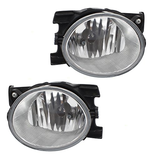 Pair Set Fog Lights Lamps Lens Units Replacement for 09-11 Honda Pilot 33951SZA305 33901SZA305