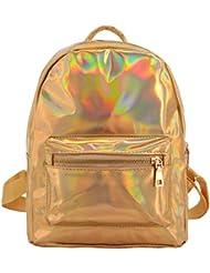 Candice Women Fashion Holographic PU Shoulder Bag Satchel Backpack School Bag