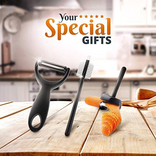 Spiralizer Vegetable Slicer: Lynworth Ultimate 8-Blade: Best Spiral Slicer, Strongest, Heaviest Duty Veggie Pasta Spaghetti Maker for Healthy Low Carb, Paleo, Gluten-Free Meals. Bonus 3 Free Gifts by Lynworth (Image #5)