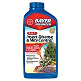 Bayer Advanced 701285 3-in-1 Insect Disease and Mite Control Concentrate, 32-Ounce