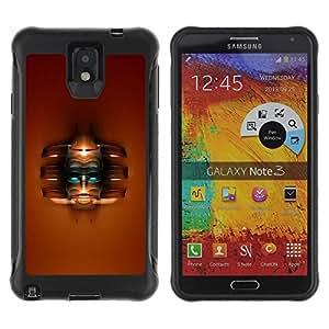 Fuerte Suave TPU GEL Caso Carcasa de Protección Funda para Samsung Note 3 / Business Style Abstract Face