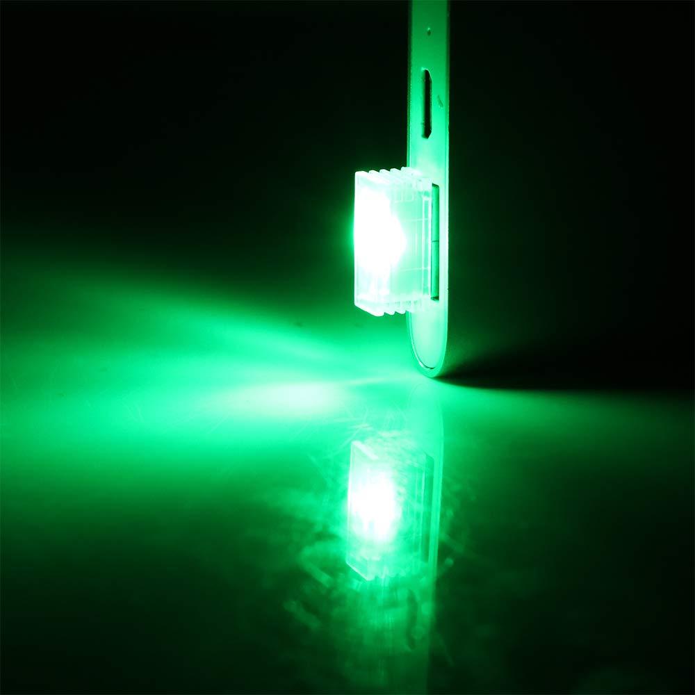 Mini USB LED l/ámpara Luces de atm/ósfera de autom/óvil Luces Interiores de autom/óviles