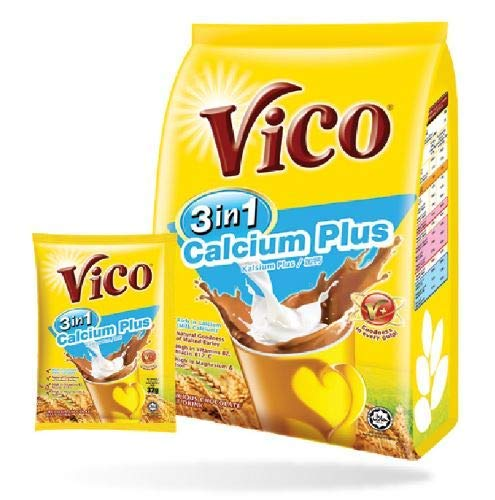 5 Pack Vico 3 in 1 Calcium Plus Chocolate Malt Drink (5 x 15 sachets) Free Express Delivery by VICO (Image #3)
