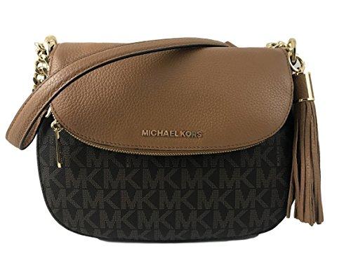 Michael Kors Bedford Signature Medium Tassel Shoulder Bag Brown/Acorn