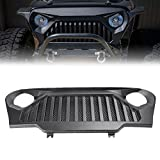 #3: GZYF Angry Bird ABS Front Matte Black Grill Grille for Jeep Wrangler TJ1997-2006