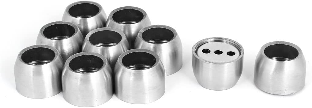 sourcingmap/® Dia 19 mm de acero inoxidable barra del armario brida redonda del sostenedor del z/ócalo 4pcs tono de plata