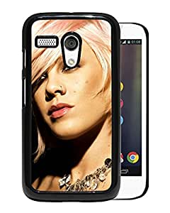 Beautiful Designed Cover Case With Pnk Haircut Earring Jewerly Light For Motorola Moto G Phone Case