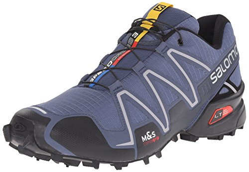 Salomon Men's Speedcross 3 Trail Running Shoe, Slate Blue/Black/Deep Blue, 9.5 D US Mens Trail Running Shoes