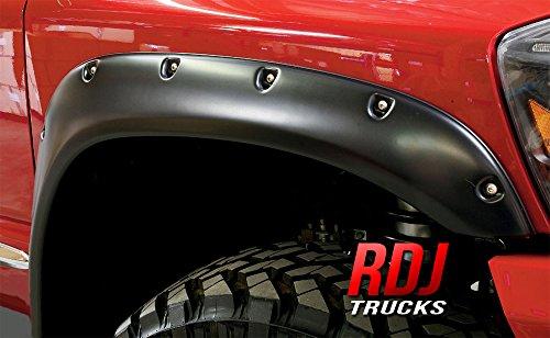- RDJ Trucks PRO-OFFROAD Bolt-On Style Fender Flares - Ram 1500 2002-2008 | Ram 2500/3500 2003-2009 - Set of 4 (Smooth Black)