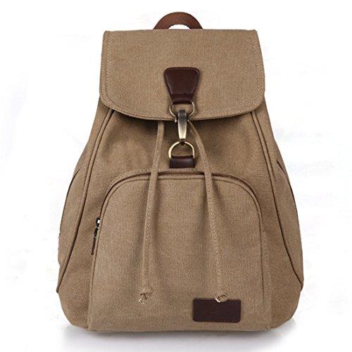 Amazing Bag New Vintage Girls' Outdoor Rucksack Backpack Style Backpack (Khaki)