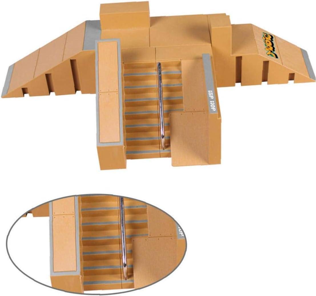 Finger Pista skateboard Mini Kit Finger Skate Park Kit rampa Parti con il dito Lavagne pattino della barretta ultimo Parchi Formazione Puntelli Style-8091B 1Set