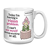 Tree-Free Greetings Extra Large 20-Ounce Ceramic Coffee Mug, Aunty Acid Vision Problem (XM41650)