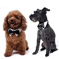 Blytieor Pet Dog Cat Black Bow Tie Collar Wedding Tie Party Accessories Christmas Gift