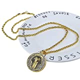 Alloy Plated Gold Mens Jewelry Egypt Pharaohs Pendant Necklace Hip Hop Crystal