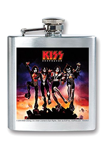 (ICUP KISS - Destroyer Album Cover 8oz. Stainless Steel Flask)