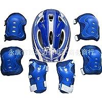 7 unids Un conjunto de protección para ciclismo al aire libre, motocicleta de esquí grueso casco a prueba de viento, caliente conjunto
