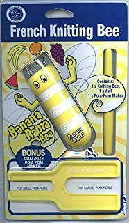 Yellow French Knitting Bee Includes Pom Pom Maker and Awl Kids Crafts