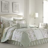 Laura Ashley 220883 Harper Comforter Set, Pale Green, Full