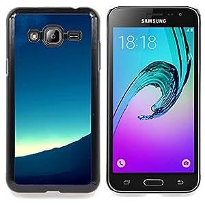 Qstar Arte & diseño plástico duro Fundas Cover Cubre Hard Case Cover para Samsung Galaxy J3(2016) J320F J320P J320M J320Y ( Horizon Lever)
