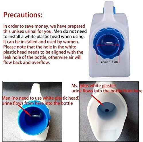便器 ボトル流出証明便器のために高齢者、ホームキャンプカートラベル千ミリリットルの尿105のために障害者、子供、または寝たきりのユーザー(サイズ:女性) ユニセックス便器 (Size : Male)