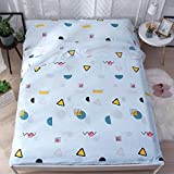 Zhiyuan Dot and Triangle Washable Cotton Healthy Travel Sleeping Bag Liner Lightweight Camping Sheet 47''x82''