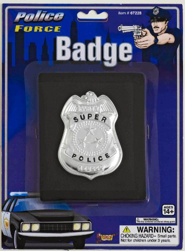 Forum Novelties Police Badge on Wallet - Black-Grey - One-Size (Halloween Costumes For Couples And Baby)