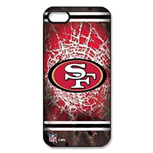 Godstore Custom New Style NFL San Francisco 49ers Logo Cover Hard Plastic Case For Iphone 4/4S Cover Case