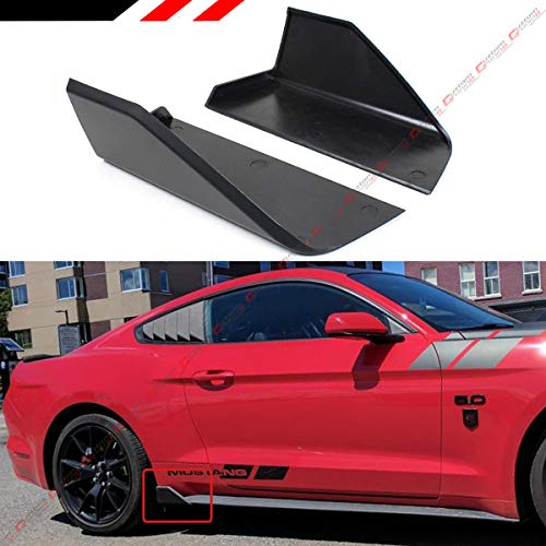 Fits for 2015-2019 Ford Mustang GT Ecoboost S550 M Style Add-on Rocker Panel Side Skirt Body Winglet Splitters ()