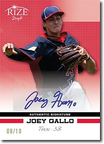 JOEY GALLO 2012 Rize Rookie Autograph RED Auto RC RANGERS #/10