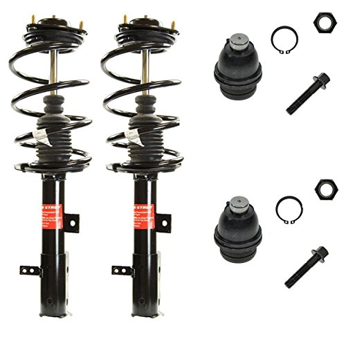 Dodge Caliber 4 Piece - Detroit Axle - 4 piece front suspension kit fits 2007-2014 Dodge Caliber [2007-2010 Jeep Compass] 2007-2010 Jeep Patriot - Lower Ball Joints, Front Complete Strut Assembly Pair - NOT FOR SRT/RT Models