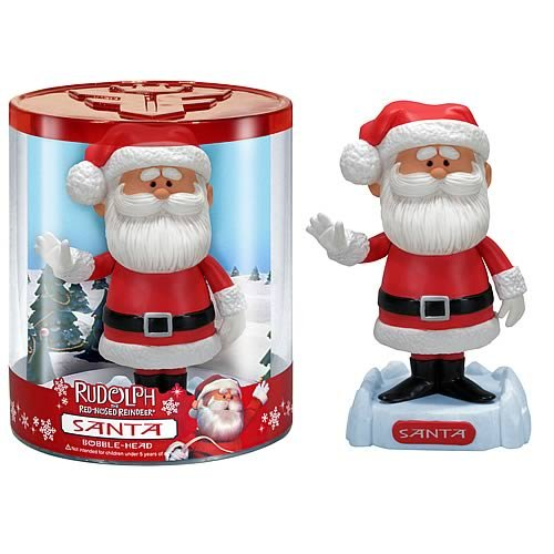 Santa Claus - Rudolph the Red-Nosed Reindeer - Wacky Wobbler Bobble-Head (Santa Claus Bobble Head)