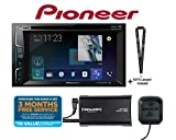 Pioneer AVH-500EX Multimedia DVD Receiver with 6.2' WVGA Display, Built-in Bluetooth w/SiriusXM SXV300KV1 Tuner and Antenna Included and a SOTS Lanyard