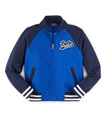 bd8ecaf64 Image Unavailable. Image not available for. Color  Ralph Lauren Polo Boys  Cotton Mesh Full Zip Patch Baseball Jacket ...