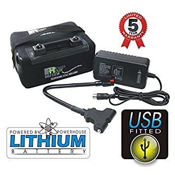BATERIA DE LITIO CON CABLE DE CONEXION Y USB PARA CARRITO DE GOLF 12V 18 HOYOS LiFePo4 POWERHOUSE: Amazon.es: Deportes y aire libre