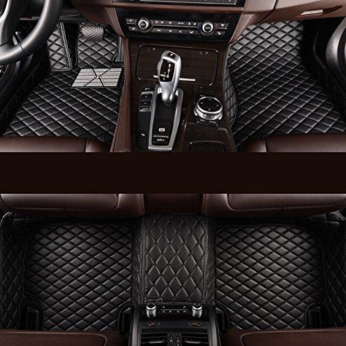 ffz Parts Interior Soporte Alfombrilla Felpudo Alfombrilla de Goma Protección Alfombras Coche Alfombrillas XPE Piel para CLA Coupe C117Piel Negro Hilo Negro