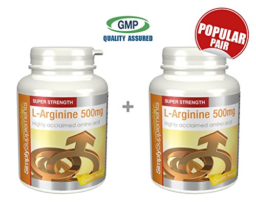 Simply Supplements L Arginine 500mg Bundle Deal 480 Capsules in total by SimplySupplements by SimplySupplements