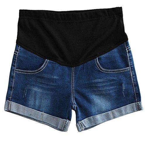 lastique Denim de ventre Bleu Shorts Maternit Mode Jeans Meijunter Femme soutien Saq6fBP