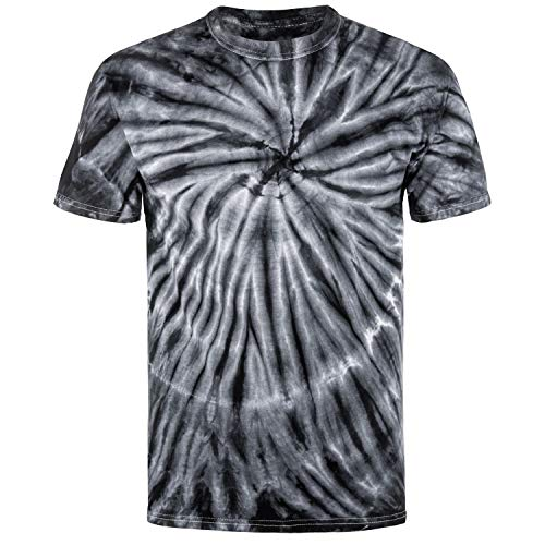 Magic River Handcrafted Tie Dye T Shirts - Black Cyclone - Kids Medium