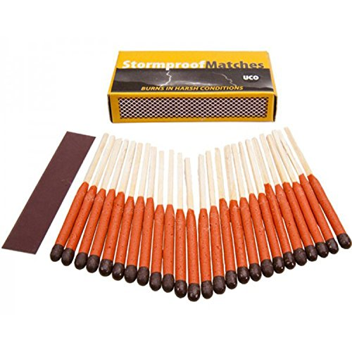 UCO Stormproof Matches, Waterproof and Windproof with 15 Second Burn Time - 25 Matches 2-Pack by SIS E-Store