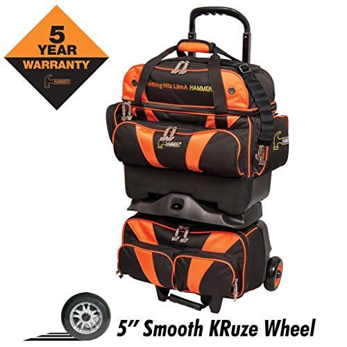 Hammer Premium 4-Ball Stackable Bowling Bag, Black/Orange (The Best Bowling Ball)