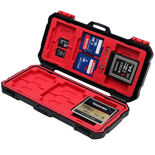 (Vidpro Super Rugged Memory Card Case Holds 3 XQD, 3 CF, 12 SD & 6 MicroSD)