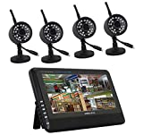 BEIBEIKA 7 inch 4CH digital wireless camera & DVR system with 4 cameras