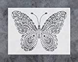 painting designs on walls GSS Designs Butterfly Wall Decor Stencil - Mandala Butterfly Stencil (12x16 Inch) Painting on Floor Wall Fabric Furniture Wood Stencils -Reusable Template for Wall Decals Transfer(SL-024)