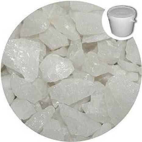 1 Kilo de seda decorativa blanca gravilla guijarros piedras - - cristal - boda - jardín - Memorial - pantalla: Amazon.es: Hogar