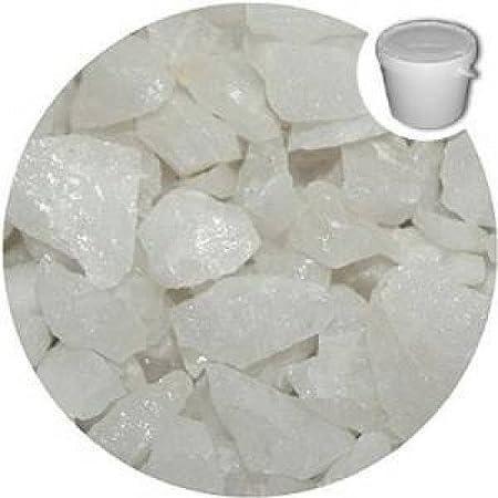 5 de seda decorativa de membranas de cristal blanco - piedras - piedras - tasquiles - jardín - Memorial - de pantalla: Amazon.es: Hogar