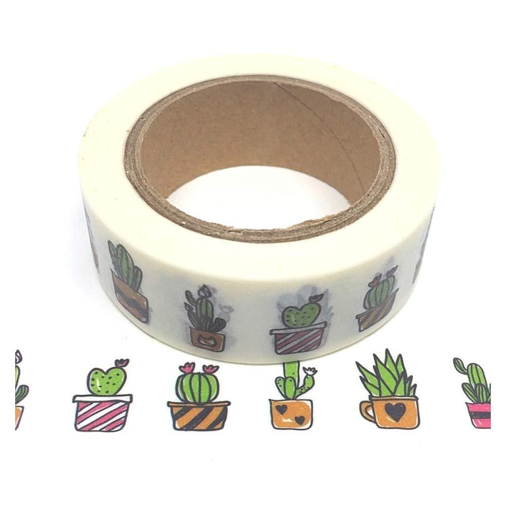Cactus Cacti Succulents Washi Decorative Paper Tape unbranded