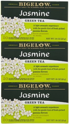 Bigelow Jasmine Green Tea Bags - 20 ct - 3 pk